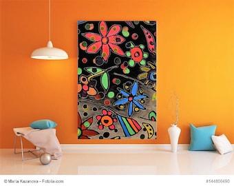 """Painting flowers series """"Dream flowers"""" painting flowers series """"Dream of Flowers"""""""