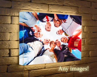 Light photo frame, FREE SHIPPING! Lighted photo frame collage, light picture frame, Light for photo, Back-Lit Photo Frame,