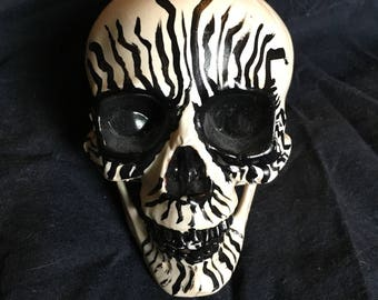 Black Metal plastic skull