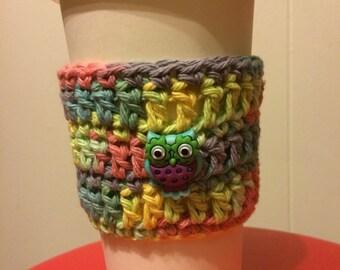 Colorful Owl Coffee/Tumbler Sleeve