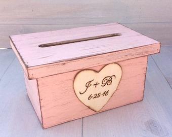 Wedding Card Box - Wedding Crate - Rustic Wedding Decor - Ceremony Decor - Personalized Wedding - Vintage Style Wedding - Program Holder -