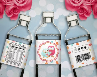 What A Hoot - Baby Shower Printable Water Bottle Labels - Instant Download