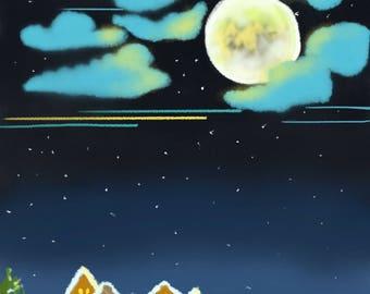 Abstract Full Moon