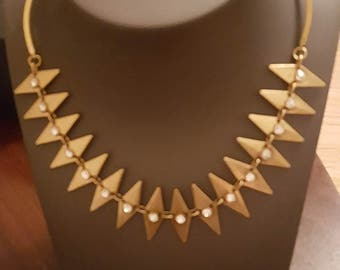 Vintage J.Crew gold tone choker collar  necklace
