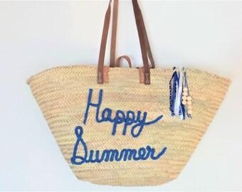 Basket, bag, personalized knitted bag. 100% handmade