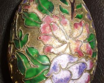 Brass and Enamel Cloisonne Hanging Egg Ornament