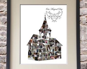 Wedding Chapel Digital Collage