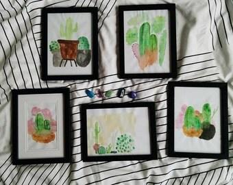 Cactus Watercolours