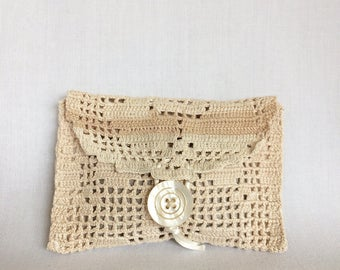 Antique doily handmade pouch bag sachet lavender sachet