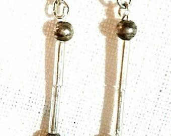 Antique Glass beads drop earrings