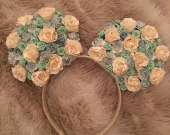 Blue Floral Ears