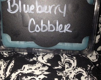 Blueberry cobbler wax tart