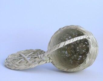 Mini Jane Birkin Basket with Lid // Handmade basket with lid // Handwoven Birkin Basket //Eco-friendly // Natural color