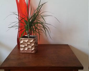 Vintage redwood end table