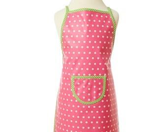 washable apron, pink children's apron