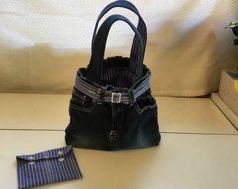 Upcycled Denim Hand Bag