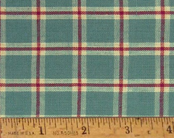 "Ginger Blue 6 Homespun Cotton Fabric (Full Yard 36"" x 44"")"