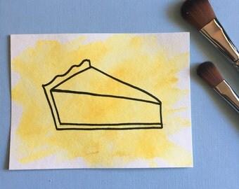 Original Pie Watercolor