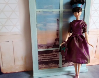 Barbie clothes, Fashion doll clothes, Barbie outfit, Vintage Barbie clothes, 1950s doll clothes, Retro Barbie clothes, Gift for her