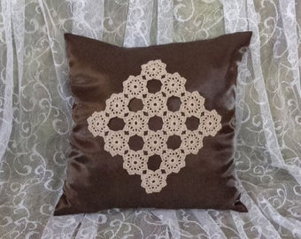 Decorative pillow covers 16x16 inches.