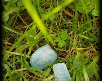 Lot of 2 stones rolled acute Marine