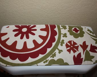 Toilet tank cover, toilet tank topper, bathroom decor small table runner reversible.