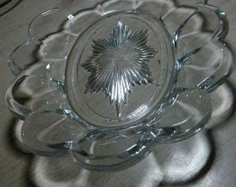 """Circa 1910-1929 Clear Crystal Westmoreland Marked Pickle Relish 7 1/2"""" x 5 1/4"""""""