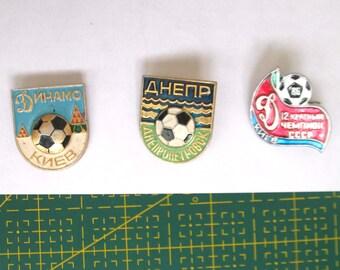 Football badges football icons Badges of Dynamo Kyiv icons Dynamo Kiev metal badge Football pin Ukrainian Football Badges Dnieper soviet pin