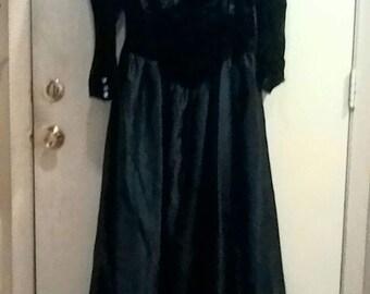 Blue Velveteen Top Dress