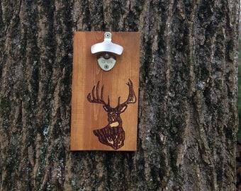 Handmade Wood Burned Bottle Opener