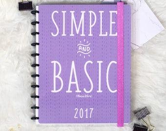 Simple and Basic Lavender FULL 2017 2018 Planner || Discbound || Agenda || Calendar || Basic It Girl