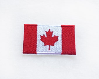 1x Canadian flag patch -  CANADA Maple Leaf emblem Iron On Embroidered Applique logo red white badge