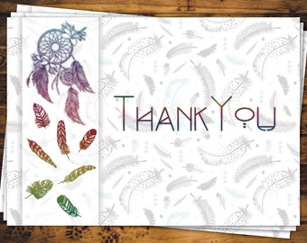 Feather Thank You Card Printable