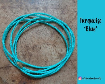Turquoise - Waist Beads - Belly Chain - Belly Beads - African waist beads
