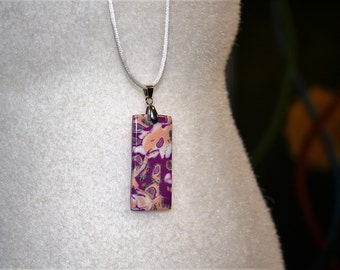 Rectangular pendant polymer clay