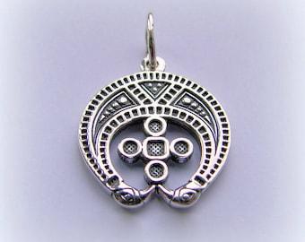 """El encanto eslavo """"Lunnitsa"""", joyería de plata, colgante de pagano, amuleto, colgante de plata esterlina"""