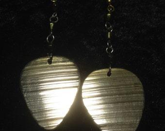 Cymbal guitar pick earrings