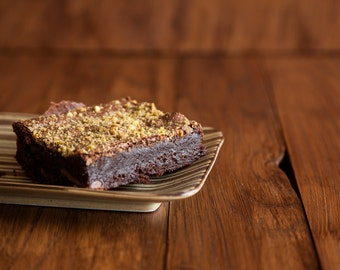 Rose, Almond & Pistachio Vegan Gluten Free Brownies