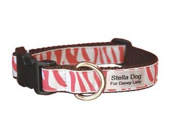 Pink Zebra Collar *FREE SHIPPING*