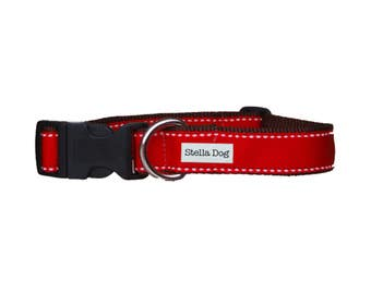 Red Ticking Stripe Collar *FREE SHIPPING*