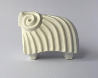 Figurine - Mid Century Porcelain Ram (Israel)