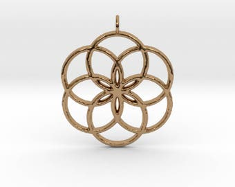 3d printed 40mm Seed of life pendant