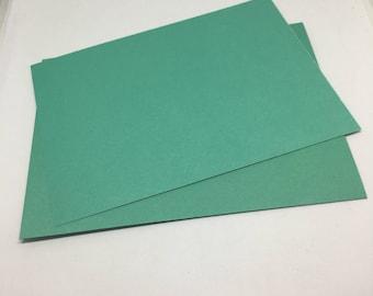Aqua green Envelope and Flatcard set  / Card Stock  / Card Making  / Paper Stock / aqua  green envelopes / aqua green flat notecards / notes