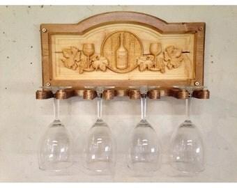 Pine Wineglass Holder