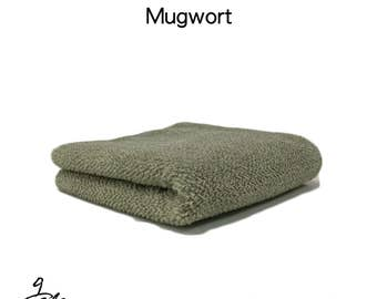 "Natural dyed towel with ""Mugwort"""