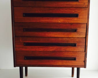 Midcentury Danish Rosewood Chest of Drawers, Denmark 1970s