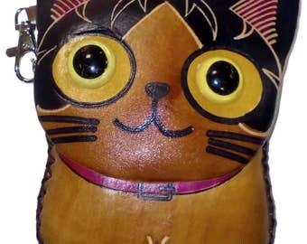 """leather purse """"Cat"""""""