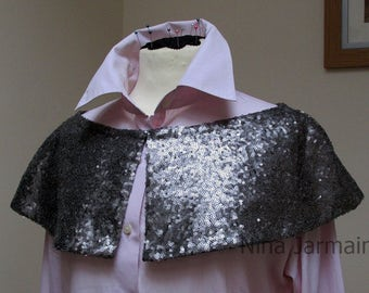 Cape - sequin cape - business style cape - size 6-8