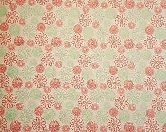 2 Sheets A4 Flowers Pattern Wrapping Paper  22x30cm Paper Crafts P101