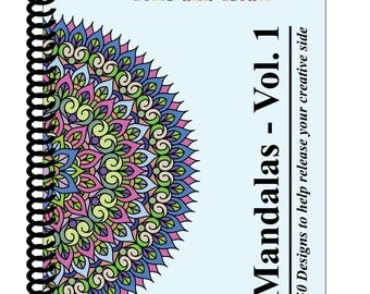Mandalas - Volume 1 (Adult Coloring Book): 50 Mandalas to bring out your creative side [SPIRAL BOUND] by Color & Create